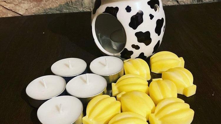 Cow Print Burner and Banana Melts