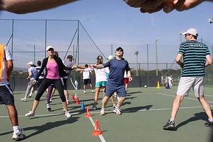 Aulas de tenis em eventos