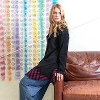 Cynthia Ashby Mesh Cardigan & Stripe Tunic