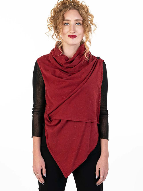 Specked Kate Cowl Vest