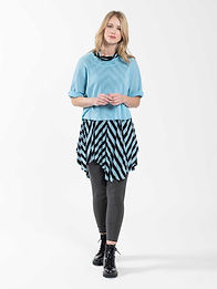 Cynthia Ashby Mesh Pullover and Stripe Tunic
