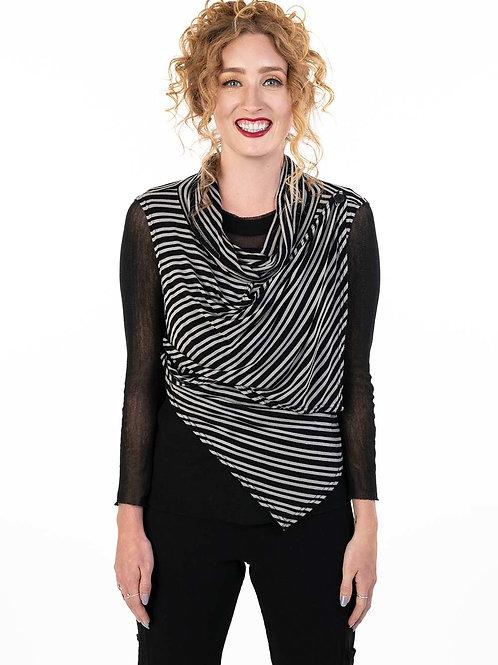 Striped Kate Cowl Vest