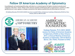 Dr Kuldeep Received Fellow from AAO