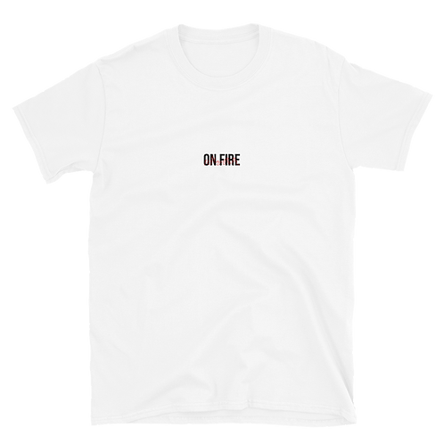 """White """"On Fire"""" Tee"""