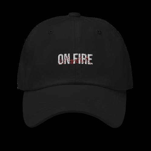 "Black ""On Fire"" Dad Hat"