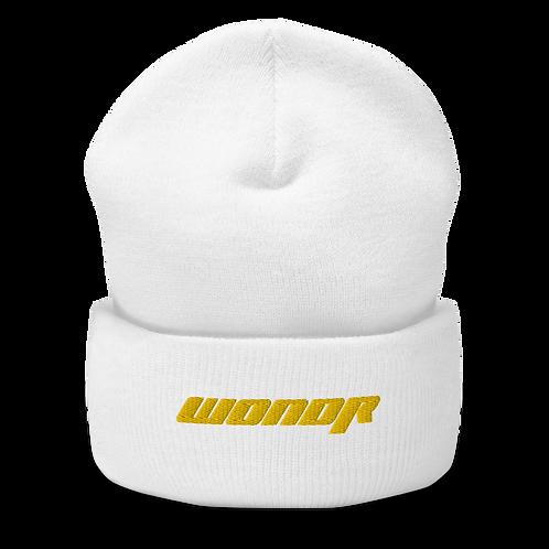 White WONDR Beanie