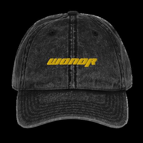 Black Vintage WONDR Dad Hat