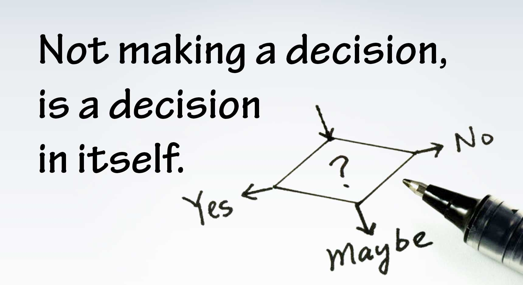 Not Making a Decision,