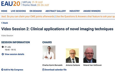 #EAU20 Theme Week - Video Session 2: Clinical applications of novel imaging techniques