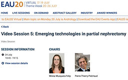 #EAU20 Theme Week - Video Session 5: Emerging technologies in partial nephrectomy