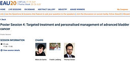 #EAU20 Theme Week - Poster Session 4: Targeted treatment and personalised management of advanced bladder cancer