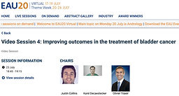 #EAU20 Theme Week - Video Session 4: Improving outcomes in the treatment of bladder cancer