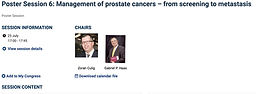 #EAU20 Theme Week - Poster Session 6: Management of prostate cancers – from screening to metastasis