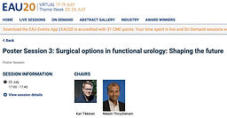 #EAU20 Theme Week - Poster Session 3: Surgical options in functional urology: Shaping the future