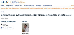#EAU20 Theme Week - Industry Session by Sanofi Genzyme: New horizons in metastatic prostate cancer