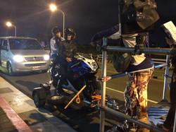 TVB戲劇機車道路夜拍