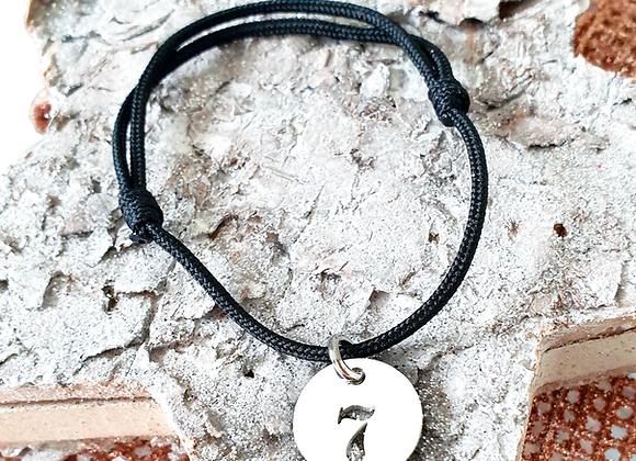 Bracelet cordon pampille chiffre ou lettre