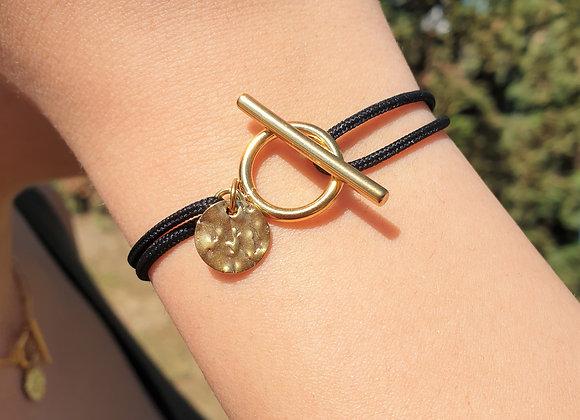 Bracelet cordon martelé
