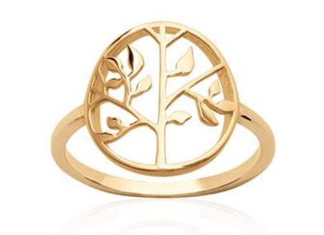 Bague arbre de vie en plaqué or