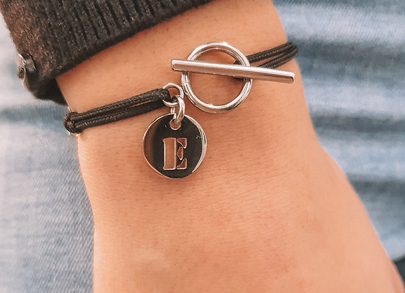 Bracelet cordon chiffre ou lettre