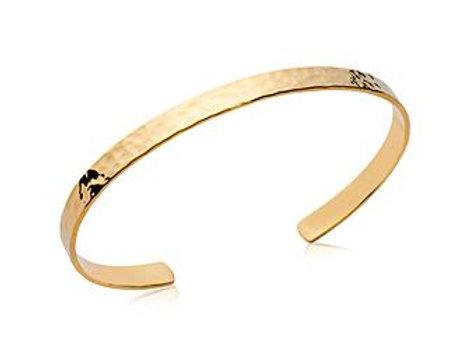Bracelet jonc martelé 4 mm en plaqué or
