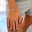 Thumbnail: Bracelet jonc fermoir T en plaqué or