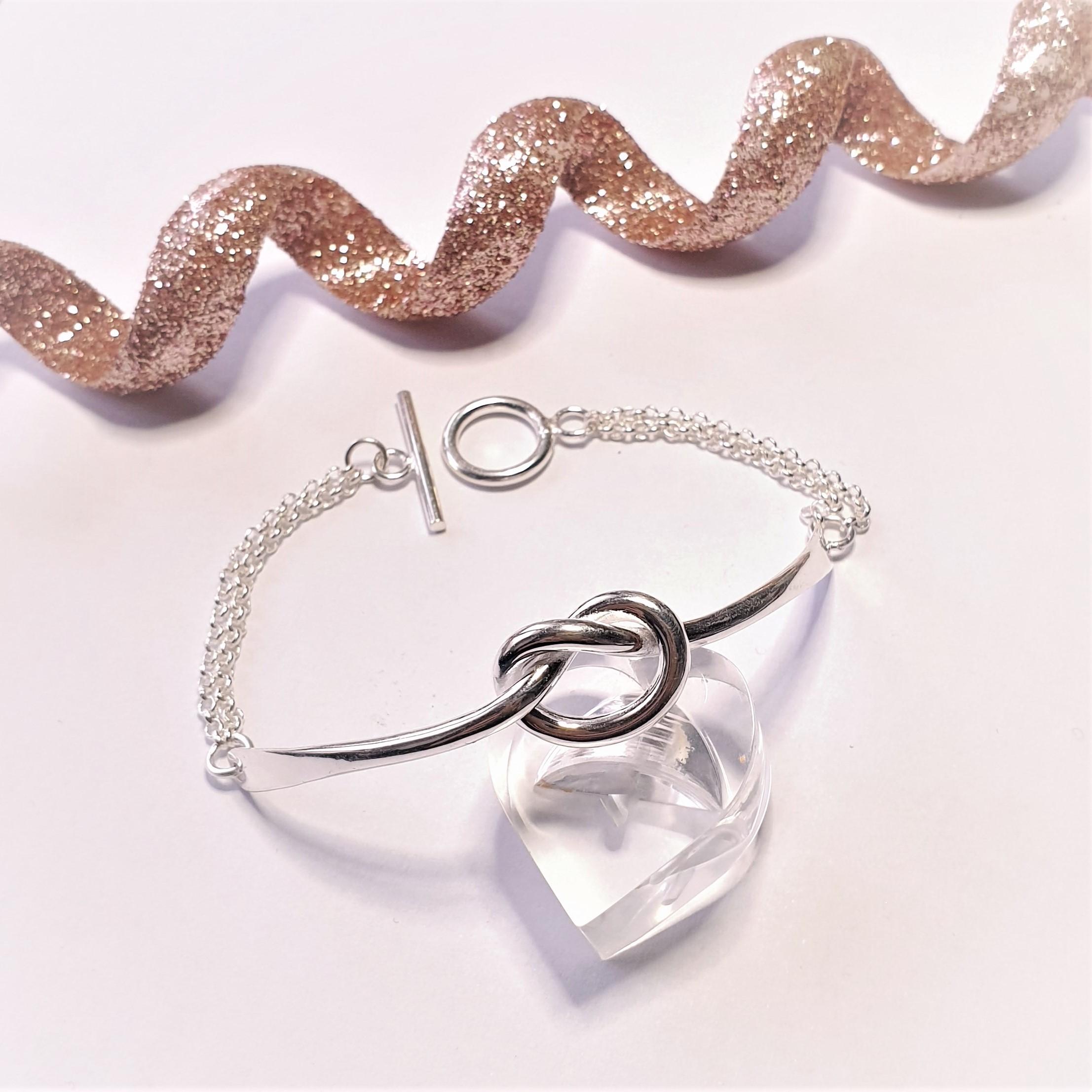 Bracelet plaque argent
