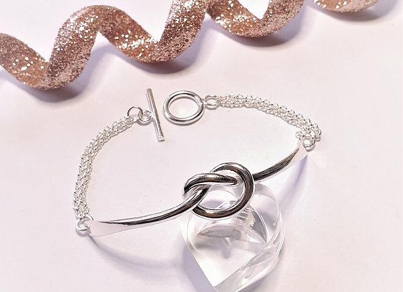 Bracelet noeud plaqué argent
