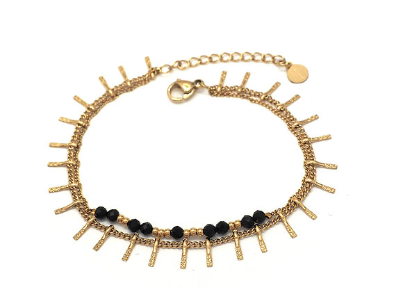 Bracelet double rangs Ikita