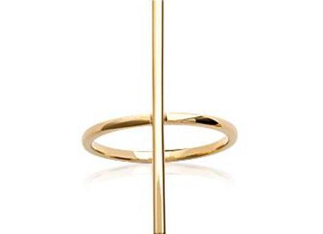 Bague croix en plaqué or