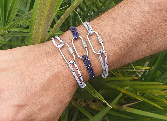 Bracelet mousqueton acier