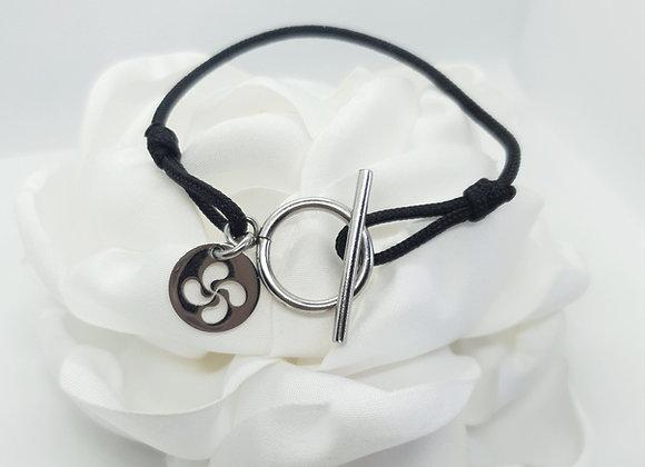 Bracelet cordon croix basque