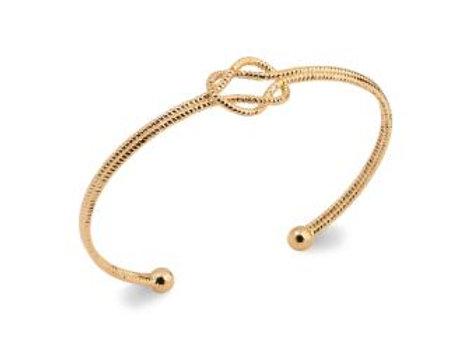 Bracelet jonc noeud en plaqué or