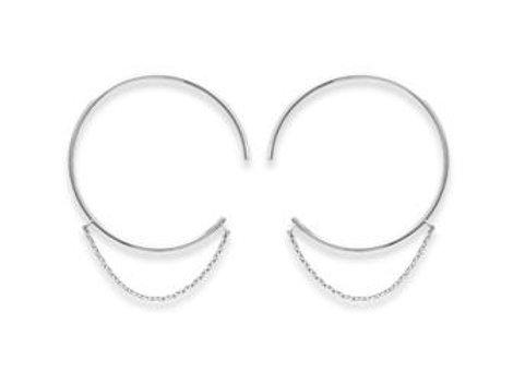 Boucles d'oreilles créoles argent