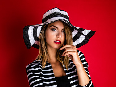 Stripey fashion shoot