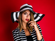 Stripey fashion shoot