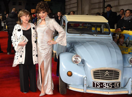 Joan Collins ups the glamour...