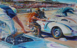 Porsche 550 Spyder Le Mans Start - 61x92