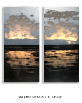 "CIEL & MER (Sky and Sea) I-II 63""x30"""