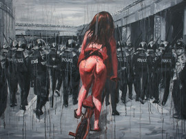 22-naked-girl-with-police-2013-acrylic-o