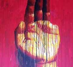 Sheng Qi_My Left Hand, 2010_Acrylic on C