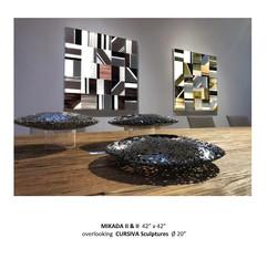 MIKADA II & III & CURSIVA Sculptures