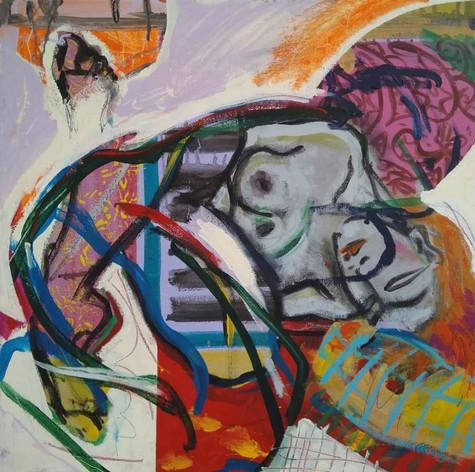 AWWhen I Sleep (2020) Acrylic on Canvas