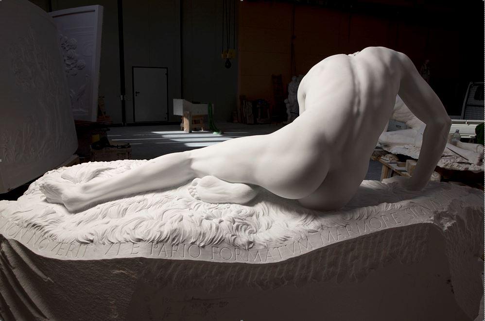 Narciso_Carrara Marble_2m_Back view_
