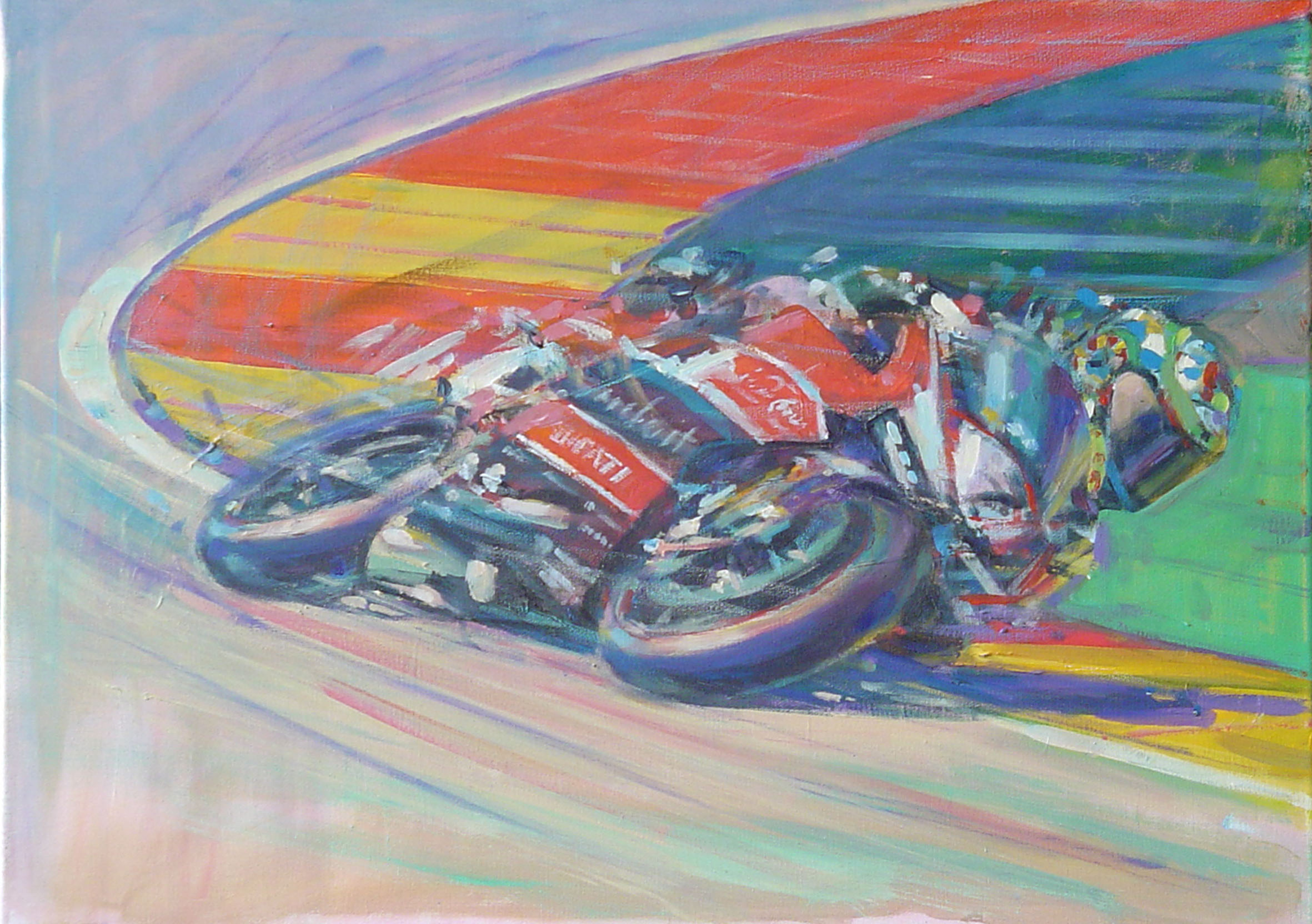 Chas Davies at Aragon - 60x80cm