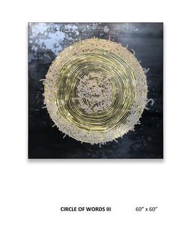 "CIRCLE OF WORDS III 60""x60"""