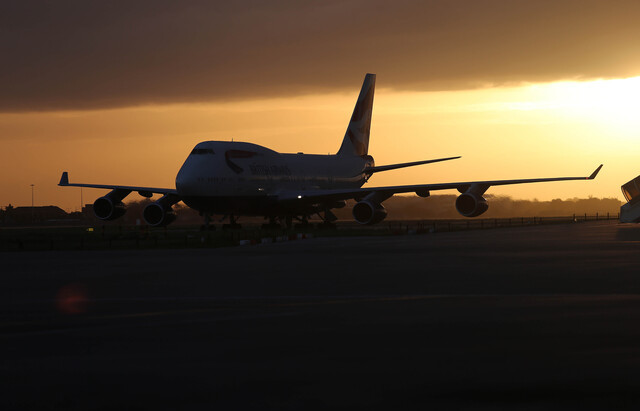 The sun sets on the Boeing 747...