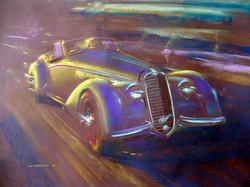 Alfa 8C 2900 - 50x70cm pastel & gouache