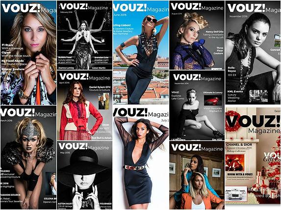 VOUZ! Magazine past covers