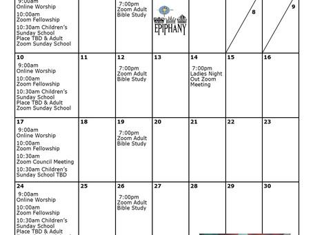 Church Calendar: January 2021 at a Glance